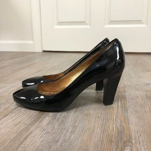 Coach Black Patent Leather Heels Size 7